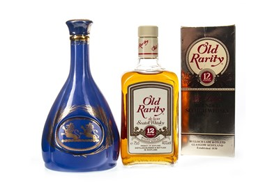 Lot 448-OLD RARITY 12 YEARS OLD AND WHYTE & MACKAY BLUE DECANTER