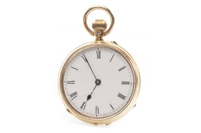 Lot 812-AN EIGHTEEN CARAT GOLD FOB WATCH