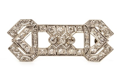 Lot 13-A DIAMOND SET BAR BROOCH