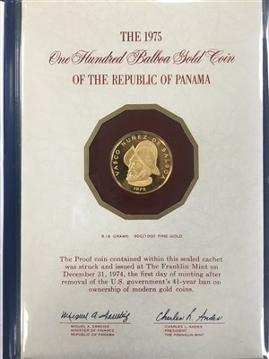 Lot 520-A 1975 ONE HUNDRED BALBOA GOLD COIN