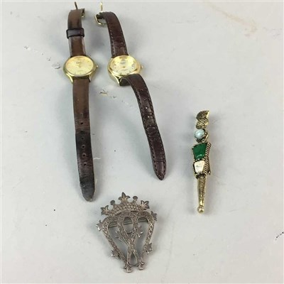 Lot 14-A COLLECTION OF SILVER AND COSTUME JEWELLERY AND WATCHES
