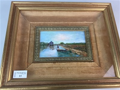 Lot 13-A FRAMED OIL PAINTING