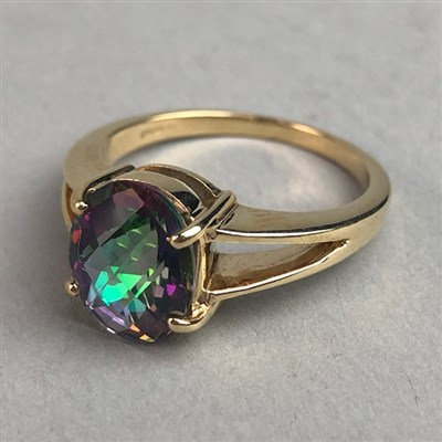 Lot 303-GEM SET RING