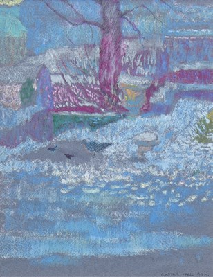 Lot 619-SNOWY GARDEN, A PASTEL BY CYNTHIA WALL