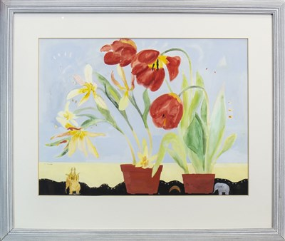 Lot 620-STILL LIFE, A WATERCOLOUR BY CHRISTINE IRONSIDE