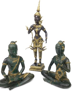Lot 1036-A LOT OF THREE THAI DEITIES