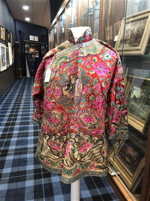 Lot 1031-A CHINESE SILK EMBROIDERED JACKET