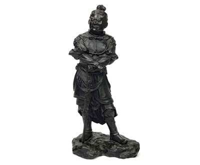 Lot 1032-A CHINESE BRONZE FIGURE OF A WARRIOR