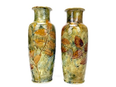Lot 1215-A PAIR OF ROYAL DOULTON VASES