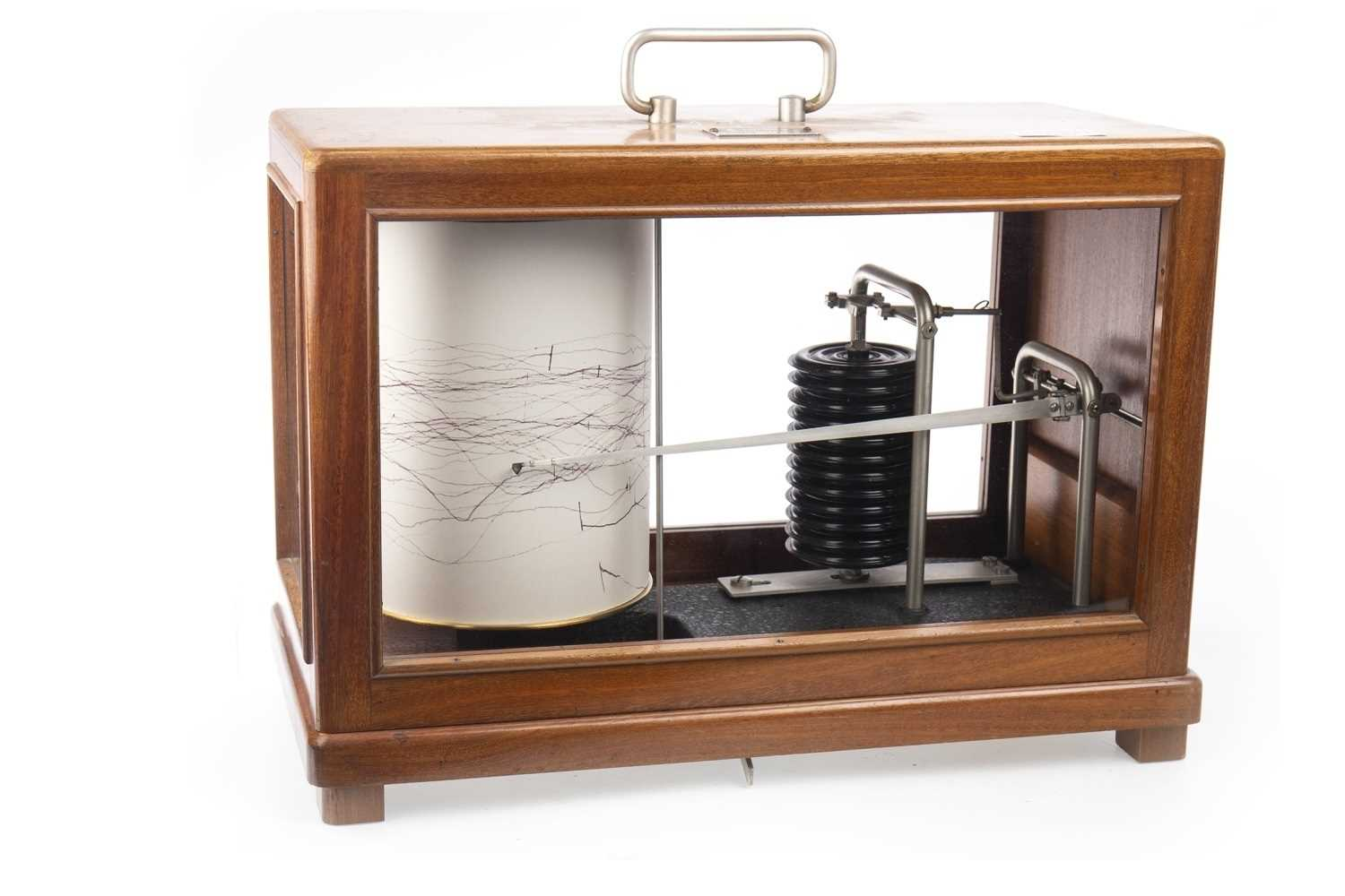 Lot 1407-A BAROGRAPH by R. FUESS of BERLIN