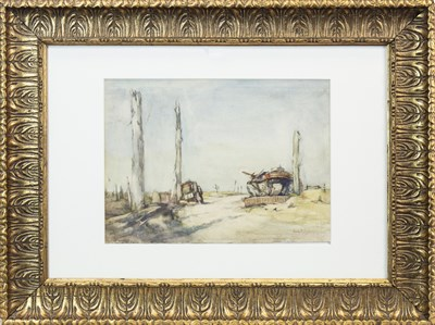 Lot 460-THE DERELICTS AT POELCAPPELLE, A WATERCOLOUR BY EMILY MURRAY PATERSON