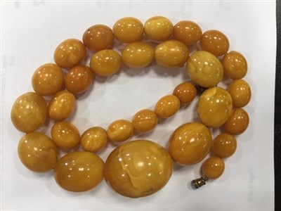 Lot 15-TWO BEAD NECKLACES