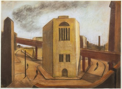 Lot 646-INDUSTRIAL DUSK, A PASTEL BY MARTIN KANE
