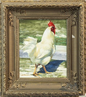 Lot 484-THE PROUD COCKEREL, AN OIL BY ALASTAIR W THOMSON