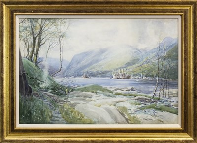 Lot 465-HOLY LOCH, A WATERCOLOUR BY ROBERT CRAIG WALLACE