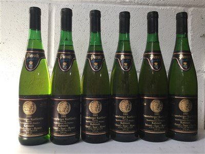 Lot 2021-SIX BOTTLES OF BRAUNEBERGER KURFERSTLAY KABINETT 1989