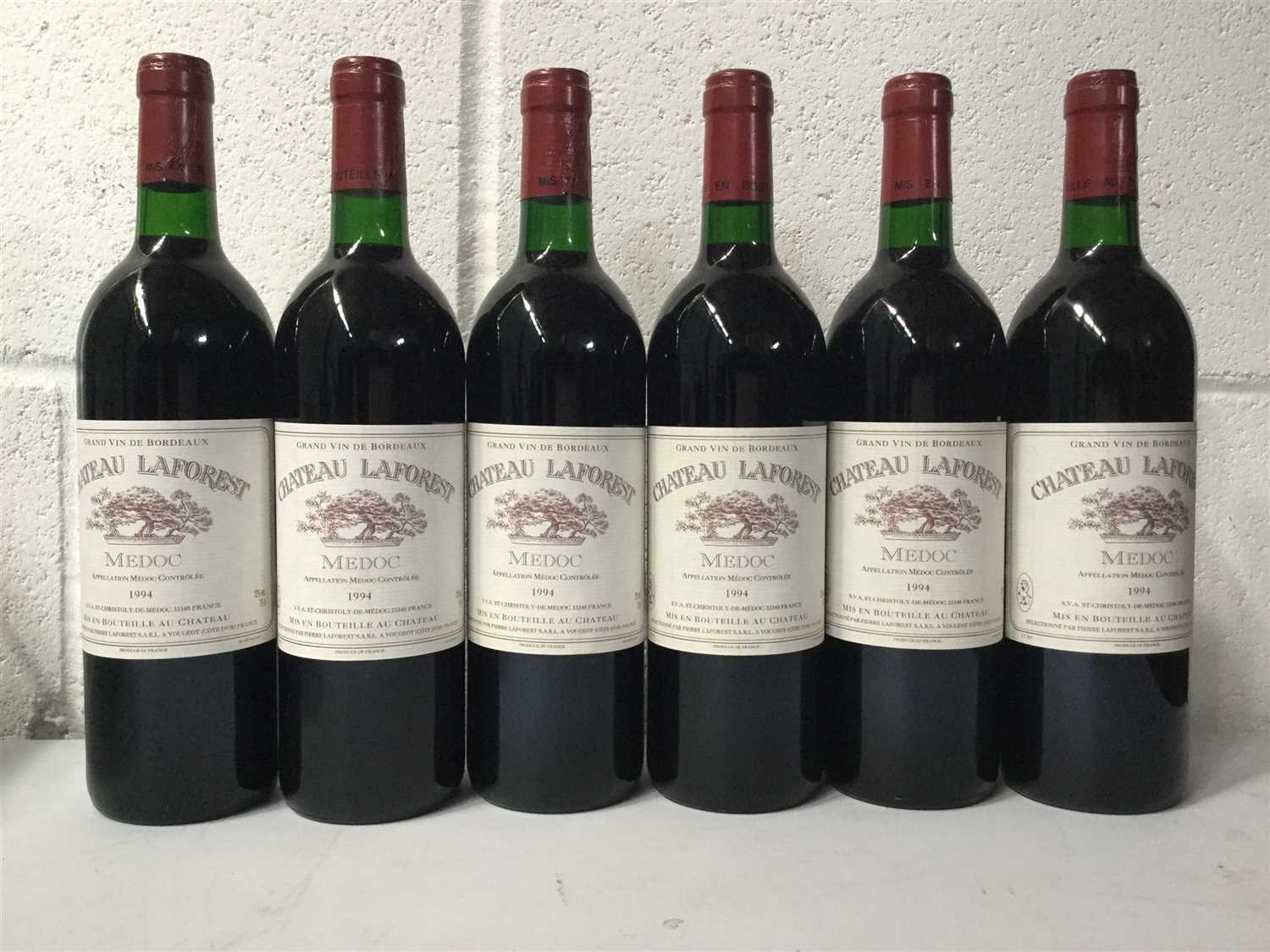 Lot 2023-SIX BOTTLES OF CHATEAU LAFOREST 1994
