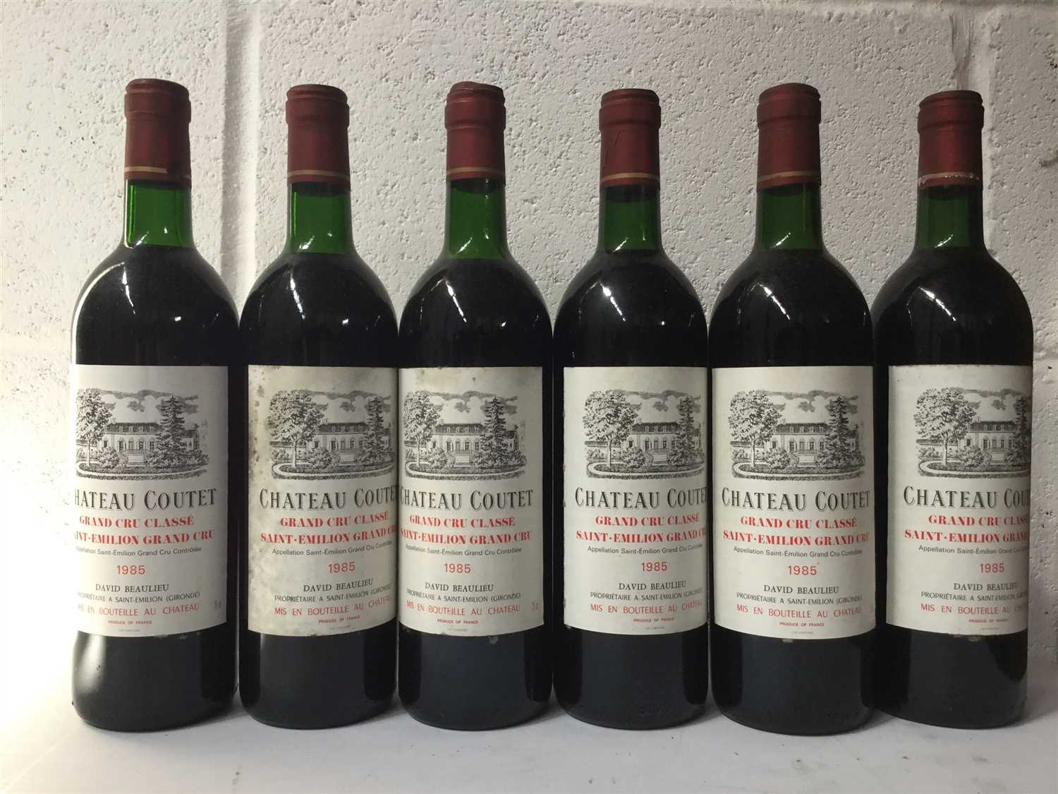 Lot 2024-SIX BOTTLES OF CHATEAU COUTET 1985 ST EMILLION