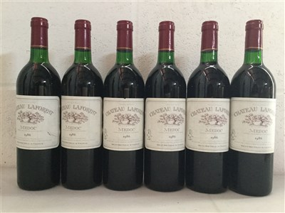 Lot 2025-ELEVEN BOTTLES OF CHATEAU LAFOREST 1986 MEDOC