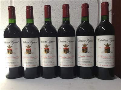 Lot 2032-SIX BOTTLES OF CHATEAU VIGNOT 1991 ST EMILLION