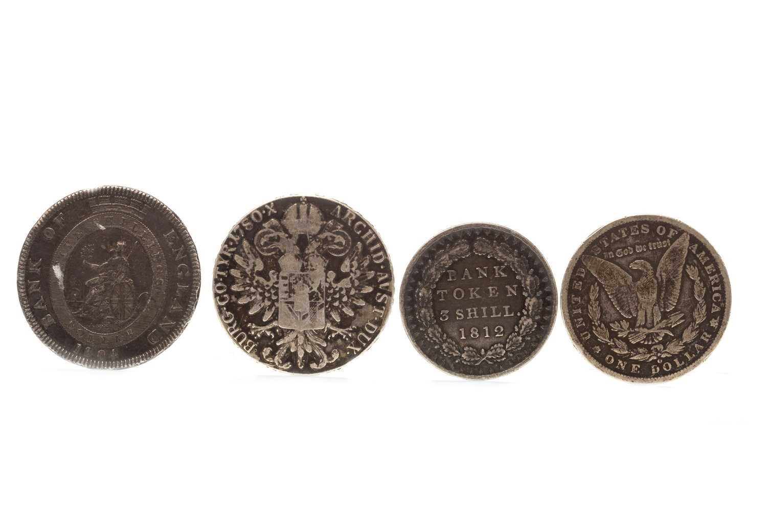 Lot 562-FOUR EARLY SILVER COINS