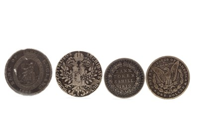 Lot 505-FOUR EARLY SILVER COINS