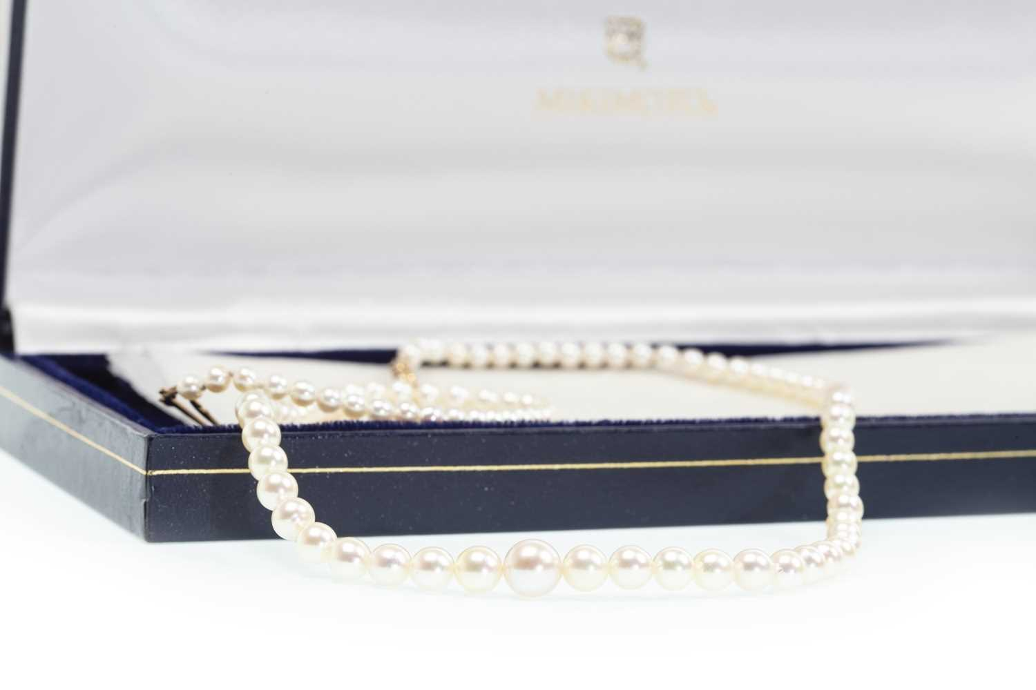 Lot 12-A PEARL NECKLACE