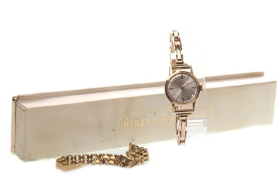 Lot 791-LADY'S GIRARD PERREGAUX NINE CARAT GOLD MANUAL WIND WRIST WATCH