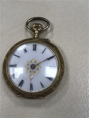 Lot 796-A CONTINENTAL GOLD FOB WATCH