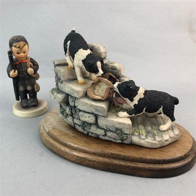 Lot 24-A BORDER FINE ARTS DOG GROUP, A HUMMEL FIGURE AND VARIOUS WHISKY WATER JUGS