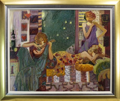Lot 461-THE MUSES, AN OIL