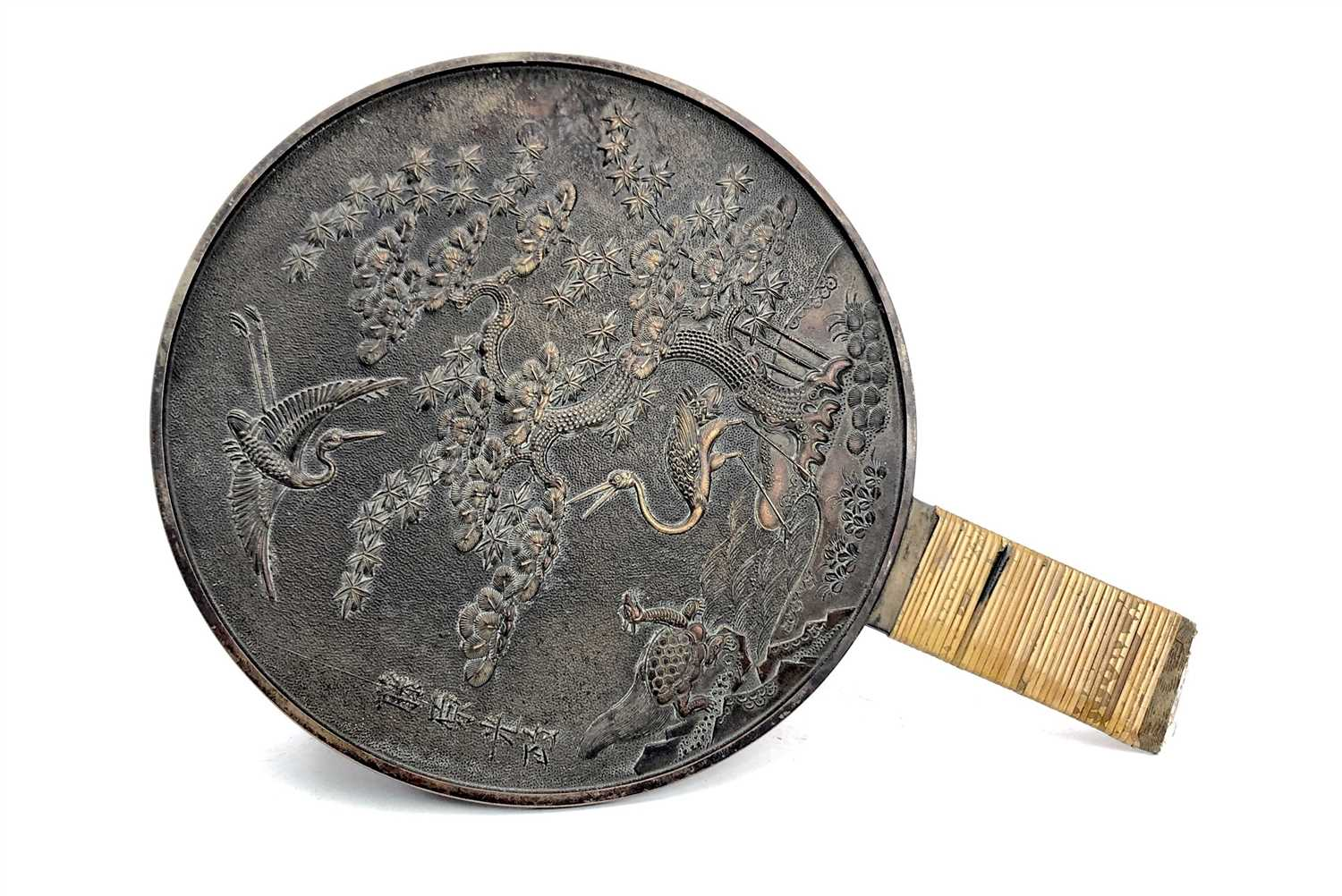 Lot 1033-A PAIR OF EARLY/MID 20TH CENTURY CHINESE HAND MIRRORS