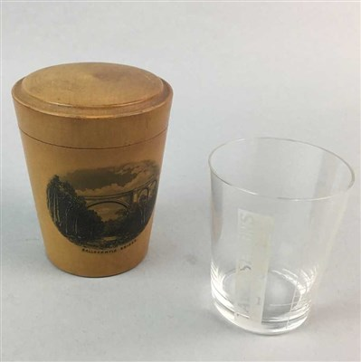 Lot 1-A MAUCHLINE WARE GLASS AND CASE