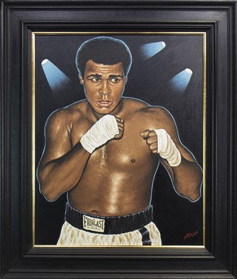 Lot 617-MUHAMMAD ALI, AN OIL BY GRAHAM MCKEAN