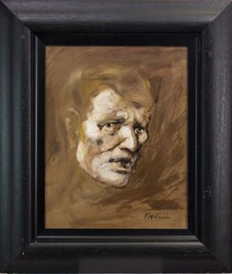 Lot 451-PORTRAIT OF A MAN, AN OIL BY FRANK MCFADDEN