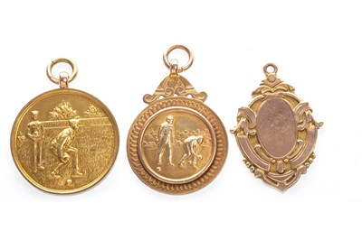Lot 1809-A LOT OF THREE BOWLING GOLD MEDALS