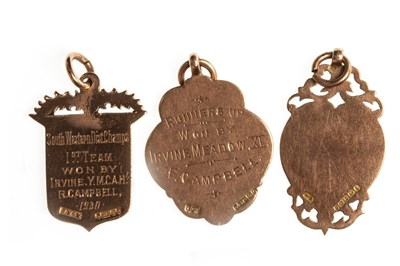Lot 1812-A WESTERN INTERMEDIATE LEAGUE GOLD MEDAL 1931 AND TWO OTHERS