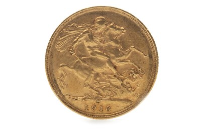 Lot 502-A GOLD SOVEREIGN, 1910