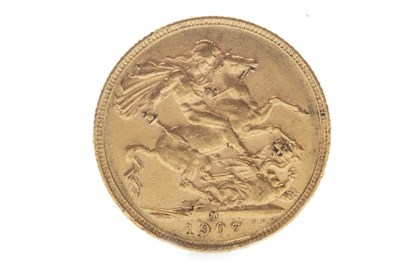 Lot 503-A GOLD SOVEREIGN, 1907