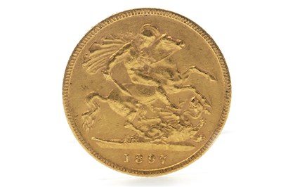 Lot 506-A GOLD HALF SOVEREIGN, 1897