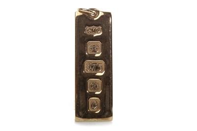 Lot 507-A GOLD INGOT PENDANT