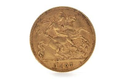 Lot 508-A GOLD HALF SOVEREIGN, 1907