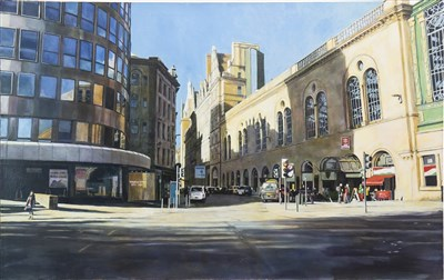 Lot 594-CENTRAL STATION, GLASGOW, AN OIL BY GAVIN SCOTT WEIR