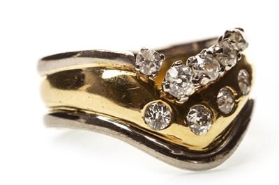 Lot 32-A DIAMOND BI COLOUR RING