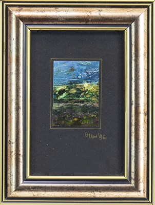 Lot 609-ROCKPOOL BLUE, A MIXED MEDIA BY GABRIELLE TRYNKLER