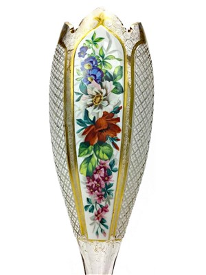 Lot 1209-A VICTORIAN BOHEMIAN GLASS VASE