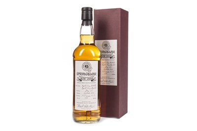 Lot 19-SPRINGBANK 180TH ANNIVERSARY SOCIETY BOTTLING