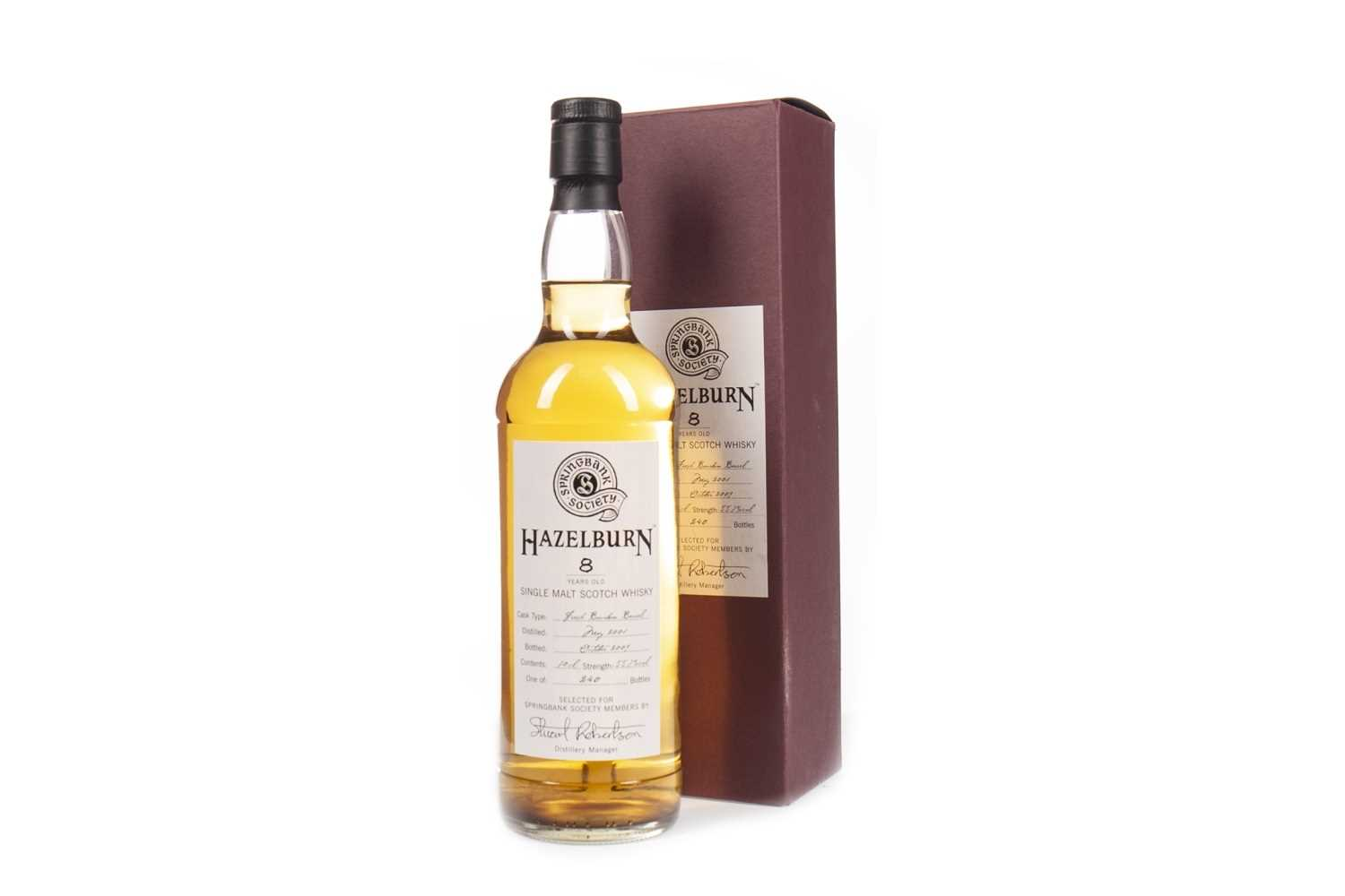 Lot 20-HAZELBURN 2001 AGED 8 YEARS SOCIETY BOTTLING