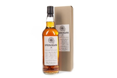 Lot 51-SPRINGBANK 1990 AGED 17 YEARS SOCIETY BOTTLING