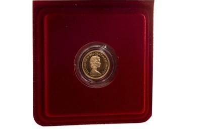 Lot 513-A GOLD PROOF HALF SOVEREIGN, 1980
